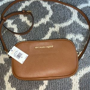 Brand new Michael Kors brown small camera bag
